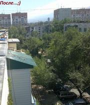 Ремонт крыш,  кровли балконного козырька в Алматы,  Алматы