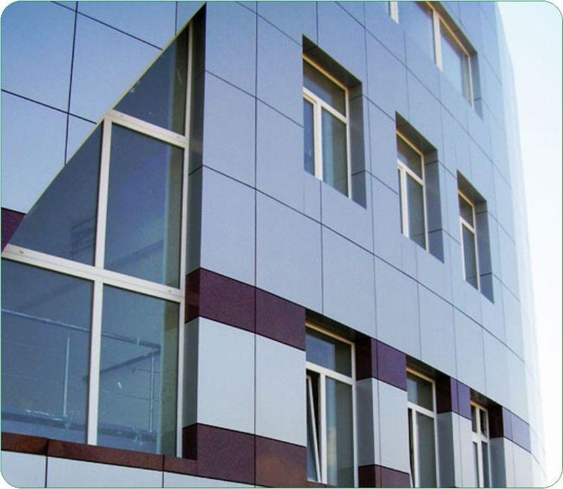 Облицовка фасада композитными панелями - современные решения.